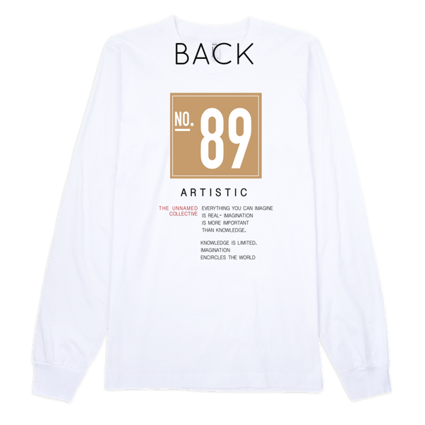 Artistic Long Sleeve Tee - WHITE