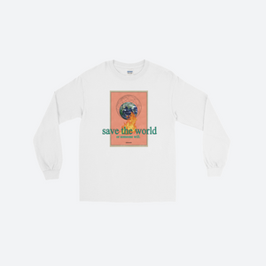 L/S SAVE THE WORLD TEE