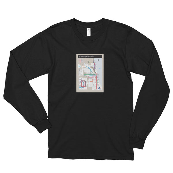 312 Map Print Longsleeve T-shirt