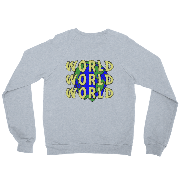 Save The World Crew Neck Sweater (Grey)
