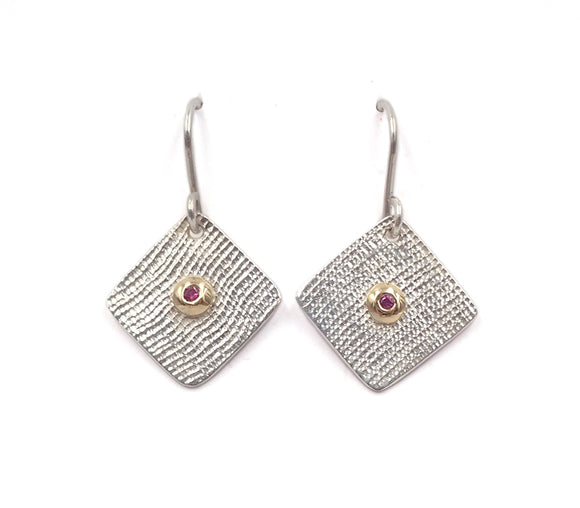 Ben Flynn linen textured earrings