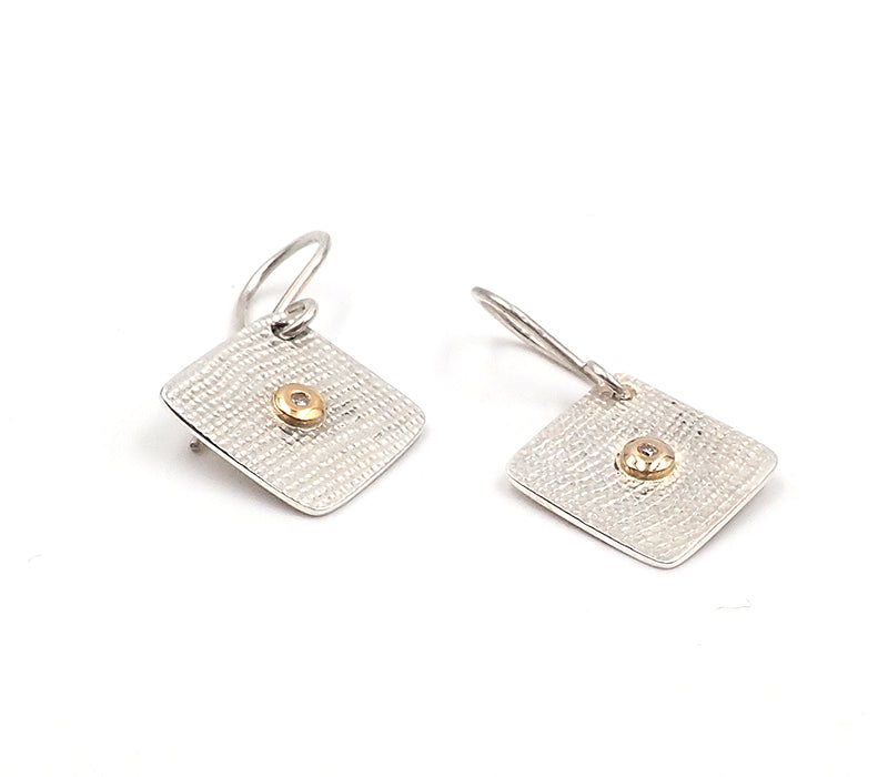 Linen Textured Earrings