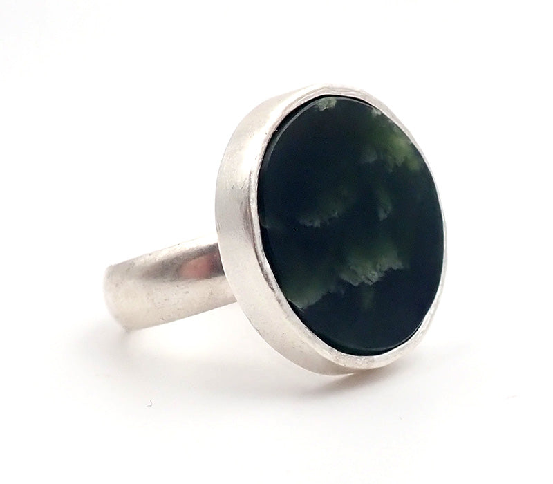 Pounamu Disc Ring