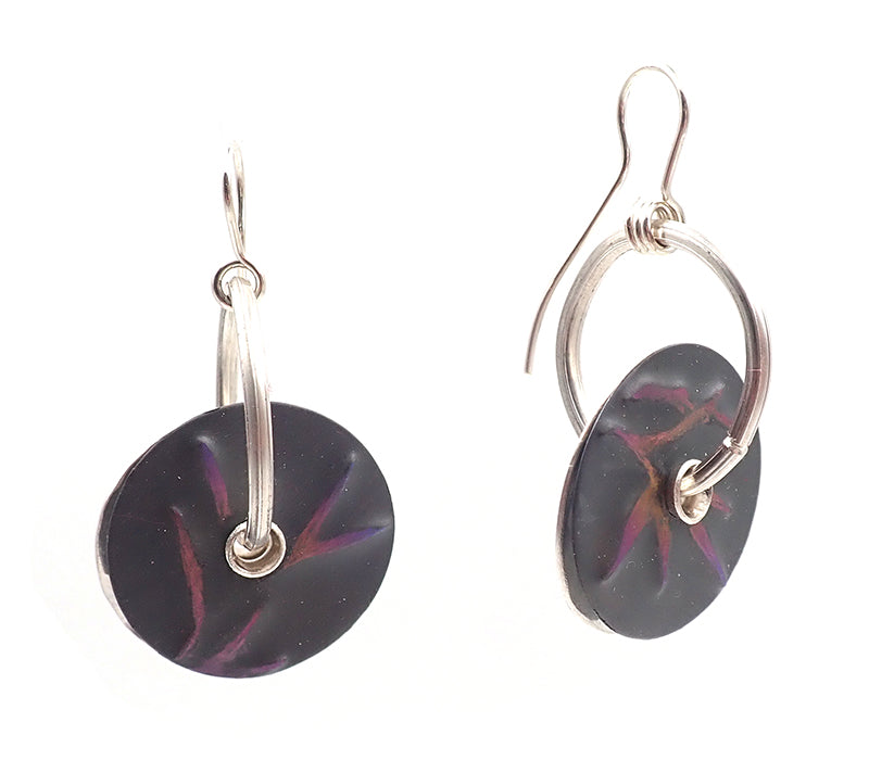 Purple Bamboo Earrings