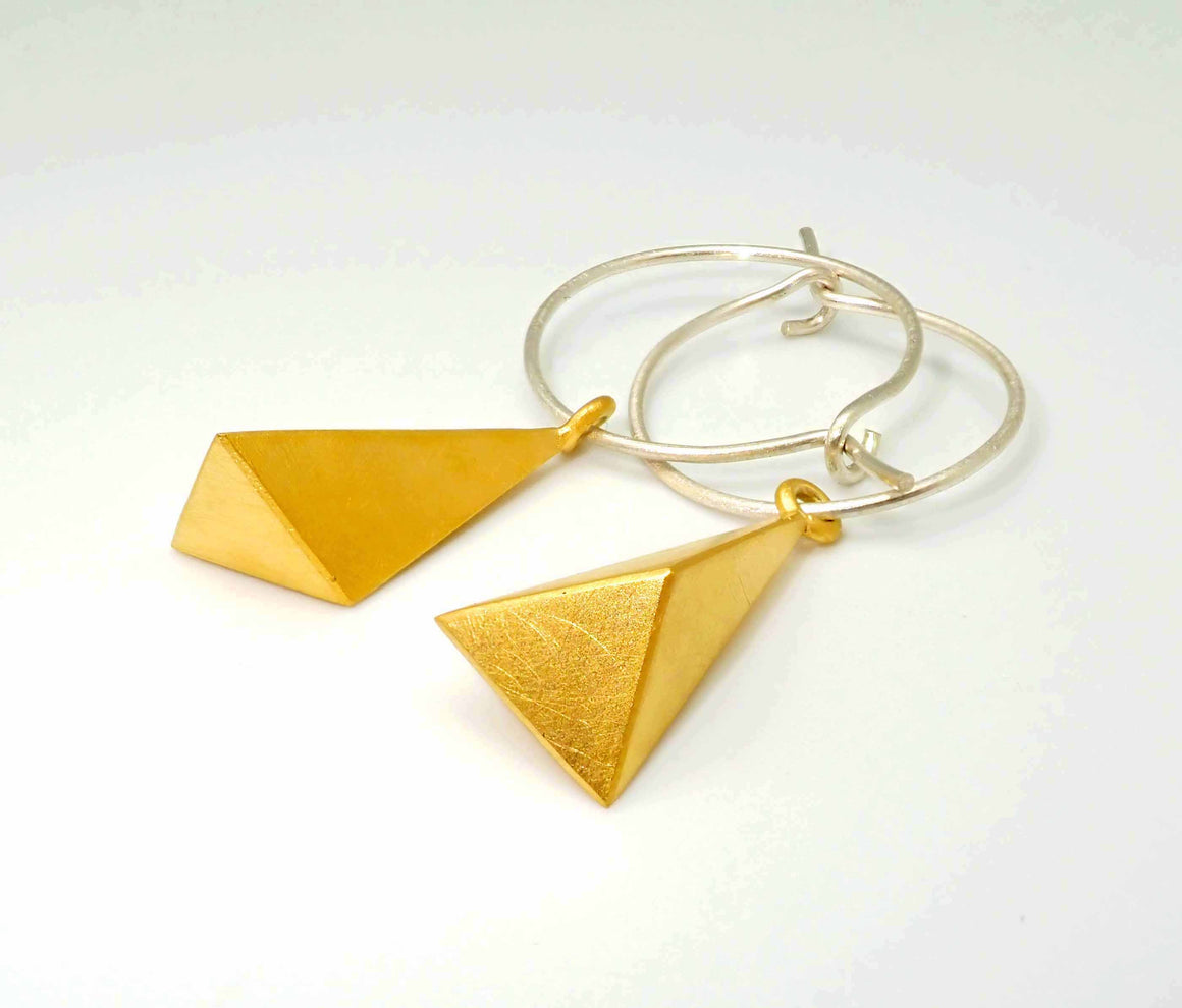 Gold 'Matter' earrings