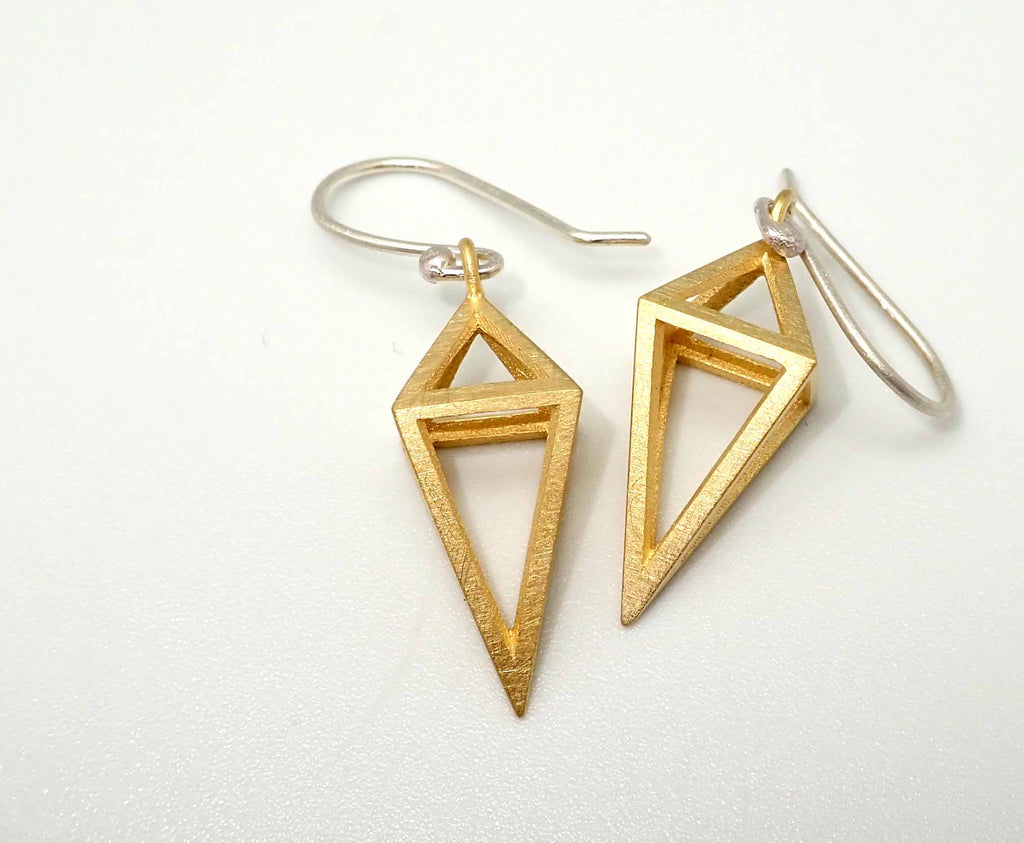 Gold 'Suspension' earrings