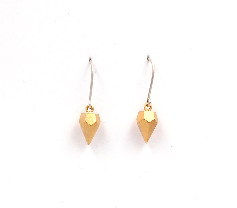 Kate Alterio earrings sterling silver nz jewellery minimalist shape gold plated