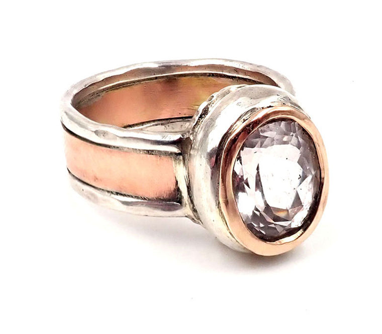 Morganite Medieval Ring