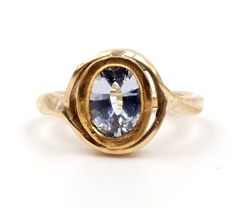 Sapphire Curve Ring