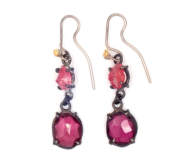 Tourmaline and Garnet Hooks