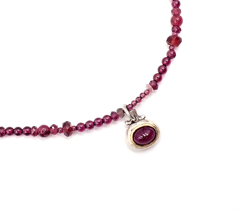 Ruby and Garnet Necklace