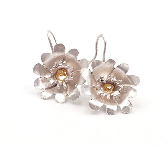 Penelope Barnhill flower earrings briar rose