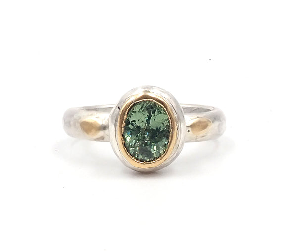 Penelope Barnhill enchanted demantoid garnet ring