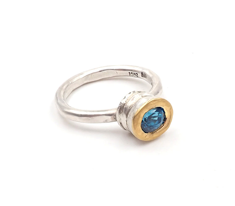 Blue Zircon Ring