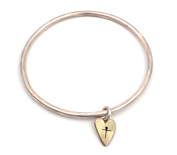 Heart Locket Bangle