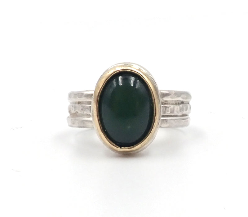 """NZ Jewellery"" ""New Zealand Jewellery"" ""NZ Made"" ""NZ handmade"" ""nz handmade ring"" ""handmade ring"" ""nz ring"" ""ring"" ""silver ring"" ""gold ring"" ""penelope barnhill"" ""pounamu ring"" ""greenstone"" ""greenstone ring"""