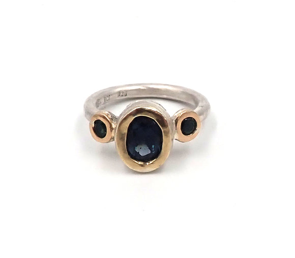 Spinel and Sapphire Chloris Ring
