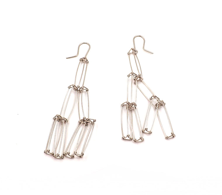 branching prism earrings sterling silver nz jewellery