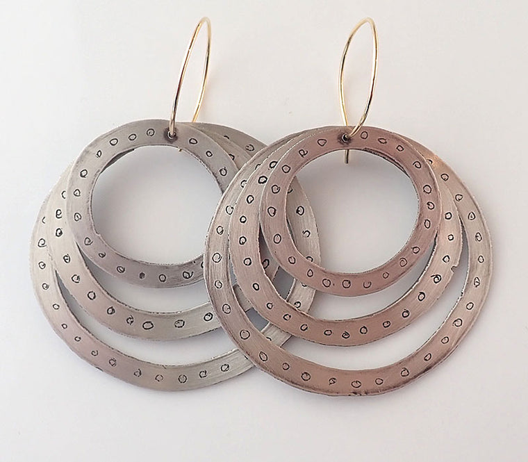 Triple Dot Earrings