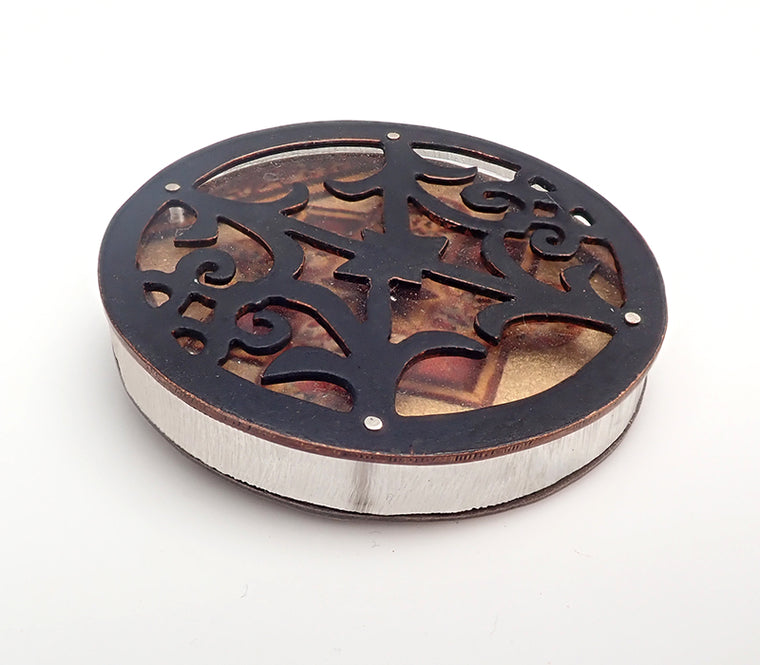 Acrylic Image Filigree Brooch