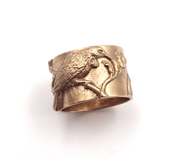 Gold 'Tui In Flax' Ring