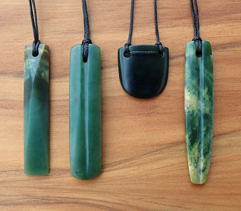 Flower Pounamu Single Grooved Drop