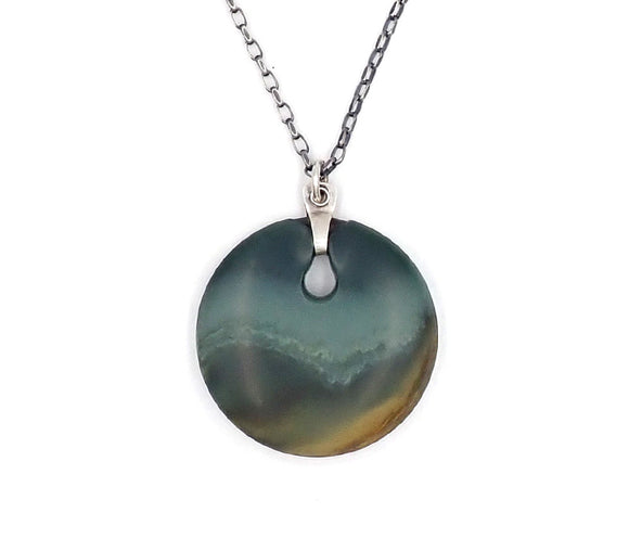 Multi Coloured Disc Pendant