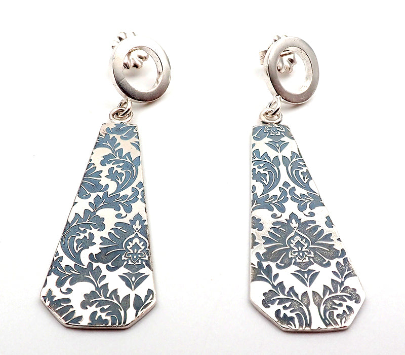 Tapered Etched Earrings