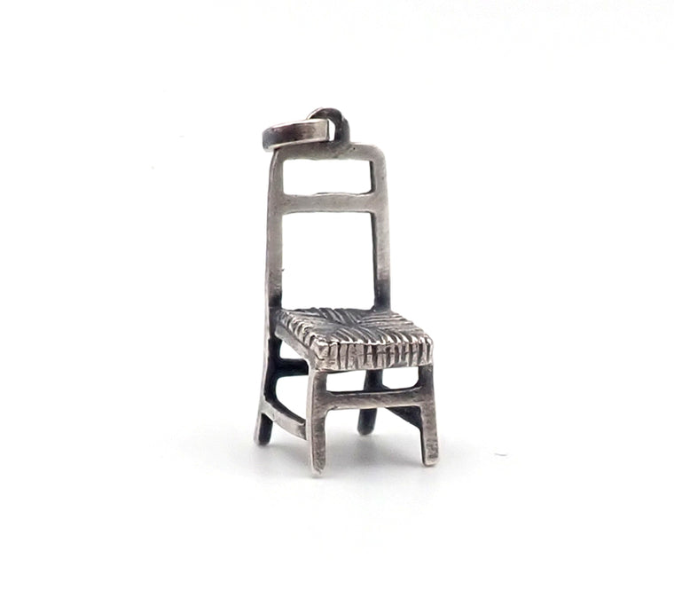 sterling silver chair charm Jane Dodd nz jewellery