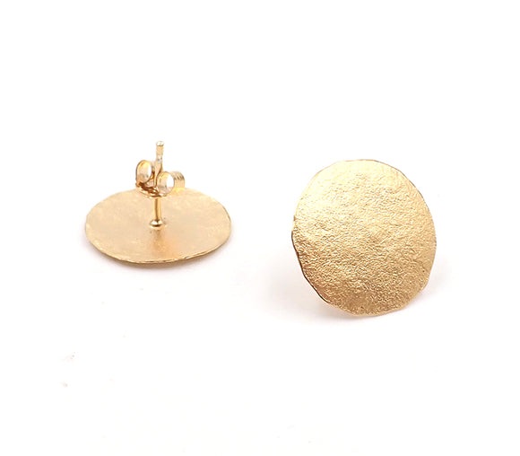 Golden Disc Studs
