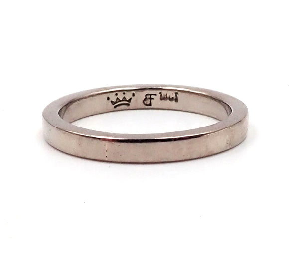 Narrow White Gold Band