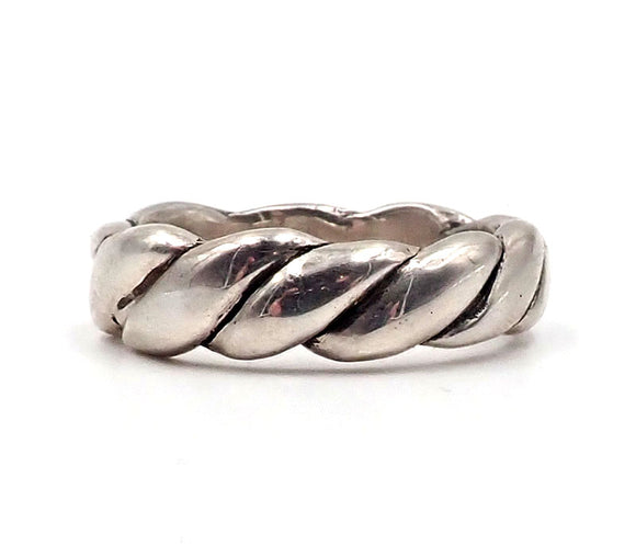 Silver Rope Ring