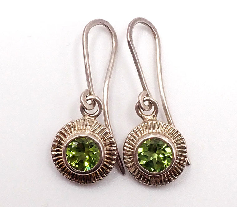 Solaris Peridot Hook Earrings