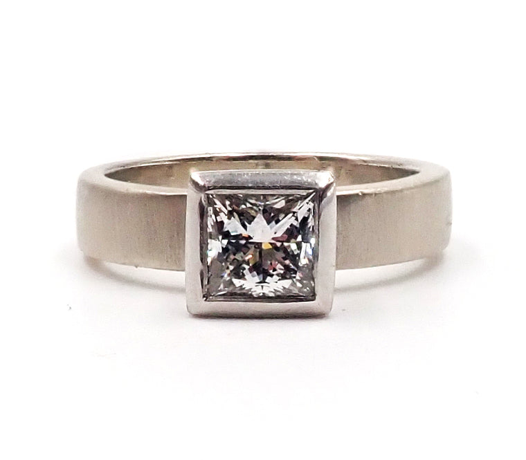White Gold and Platinum Diamond Ring