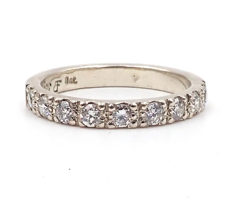 White Gold and Nine Diamond Eternity Ring