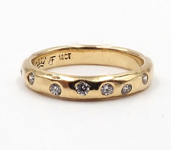 Yellow Gold Offset Diamond Ring