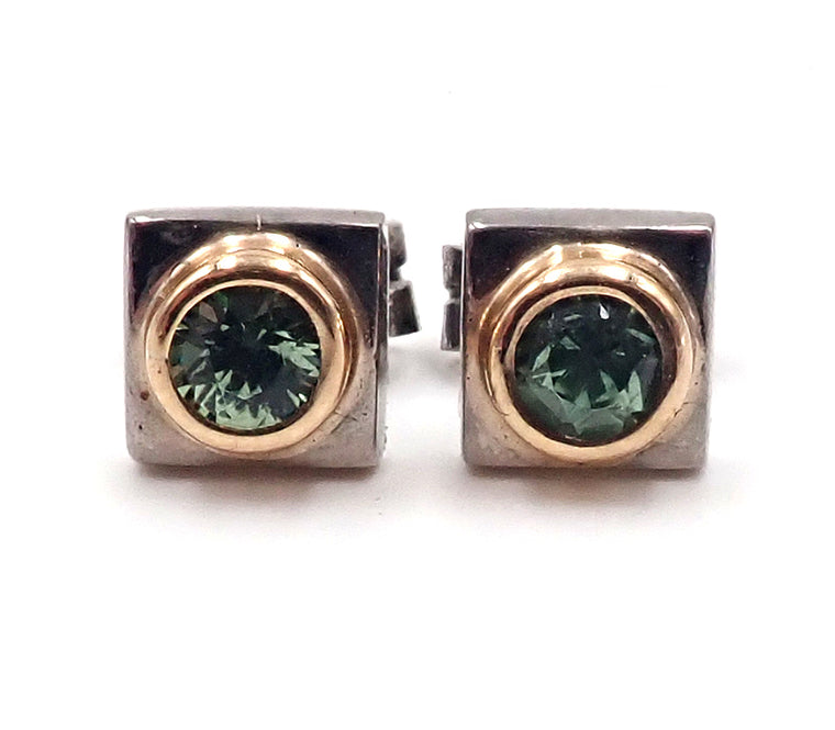 Demantoid Garnet Studs