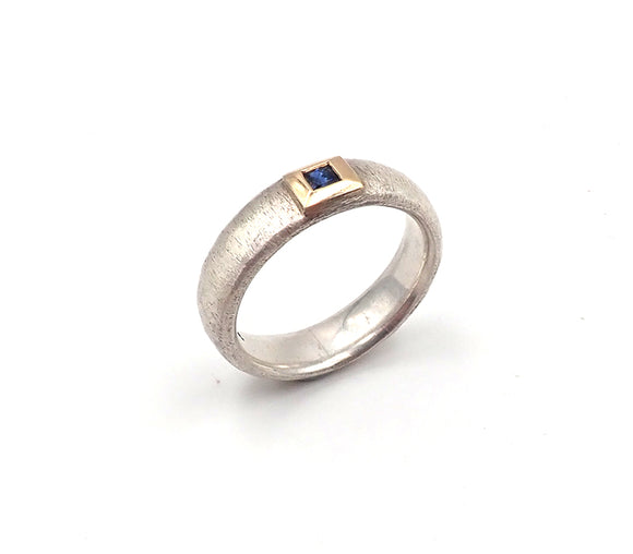 Square Sapphire Ring
