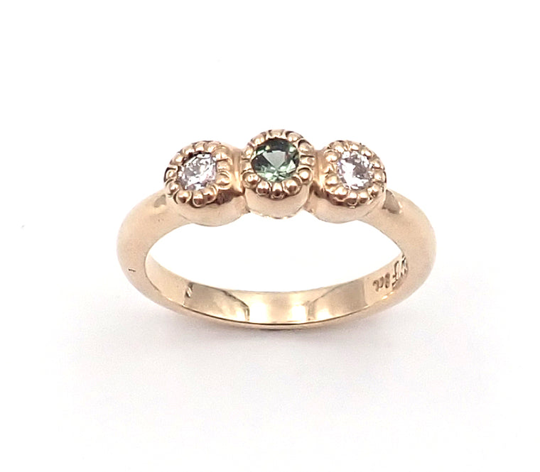 ben flynn nz jewellery jewelry diamonds sapphire maisy ring gold