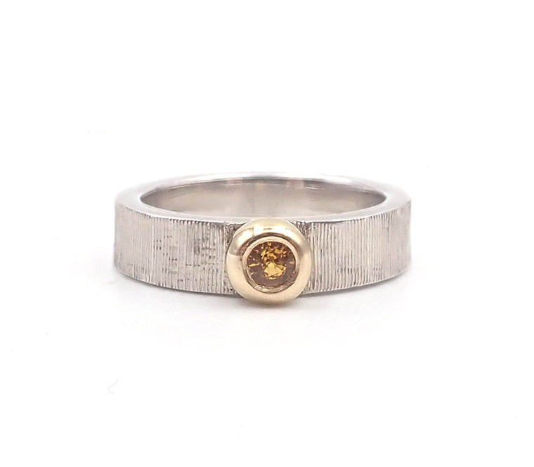 ben flynn golden yellow sapphire silver ring nz jewellery