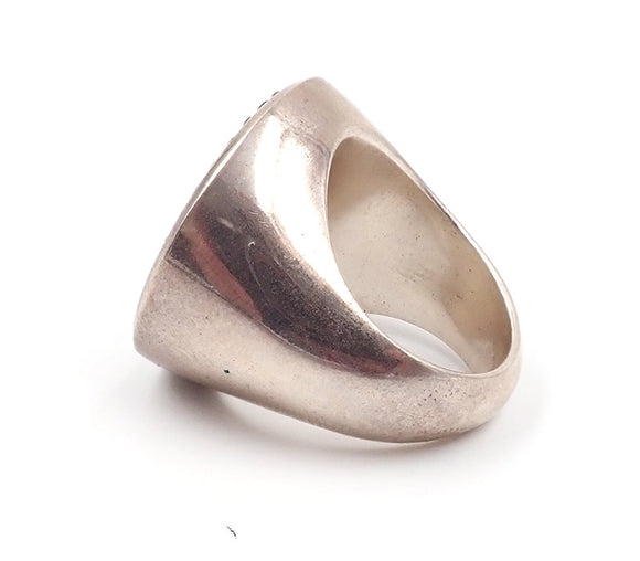 Ursula Grube signet ring sterling silver nz jewellery