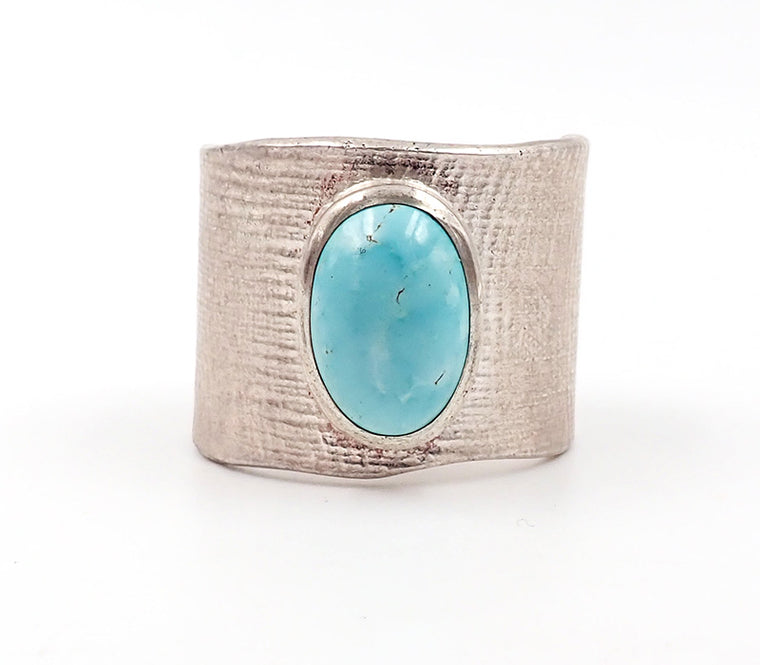 Wide Turquoise Ring