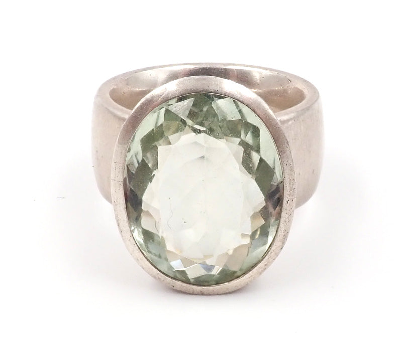 Large Green Amethyst Ring