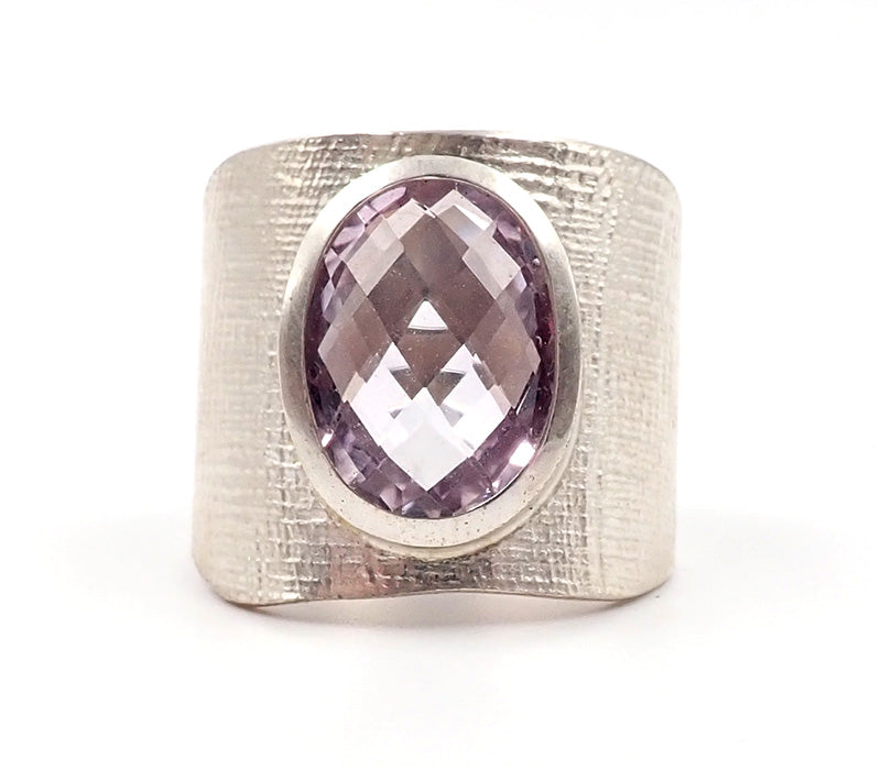 Wide Amethyst Ring