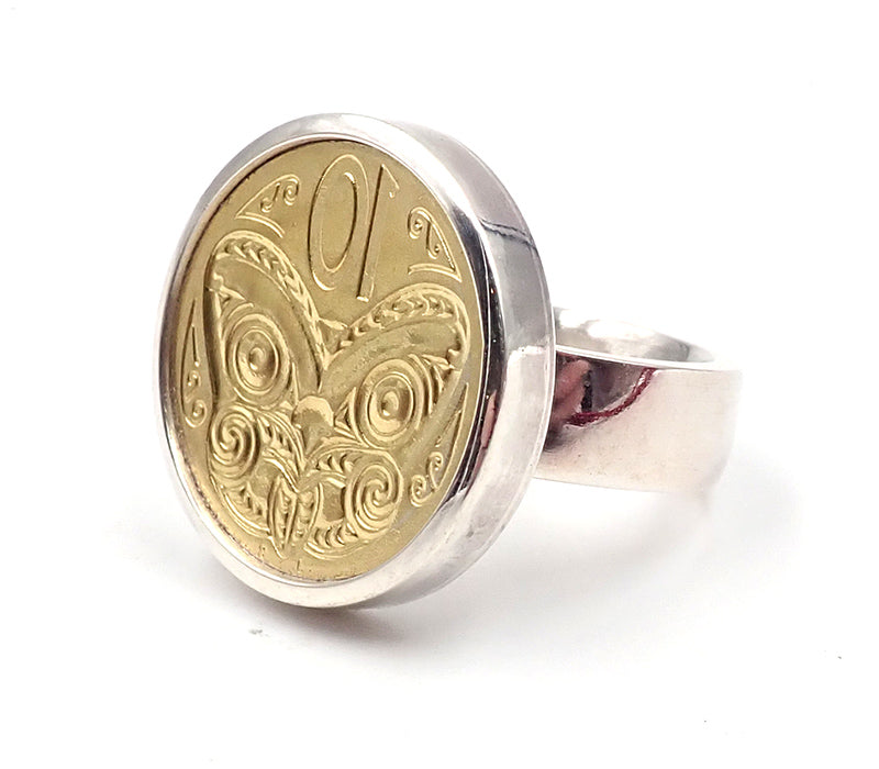 Ursula Grube nz jewellery ring signet gold 10c ten cents