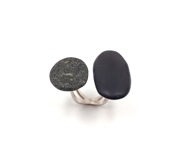 Double Pebble Ring