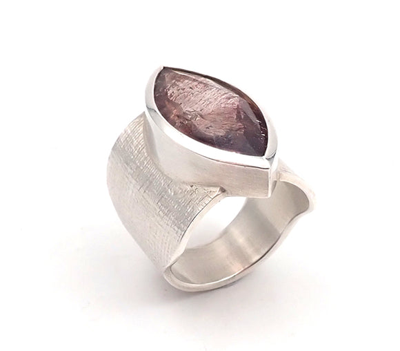 Marquise Rutilated Agate Ring