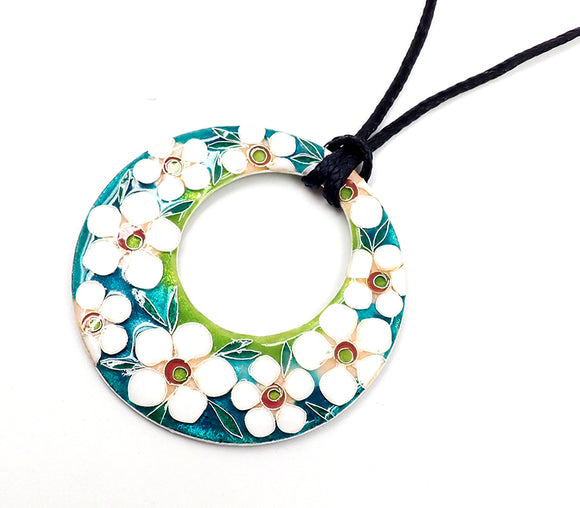 """nz made jewellery"" ""New Zealand Jewellery"" ""nz made"" ""nz made pendant"" ""NZ handmade jewellery"" ""enamel pendant"" ""necklace"" ""flower pendant"" ""Junko Kingsley Smith"""
