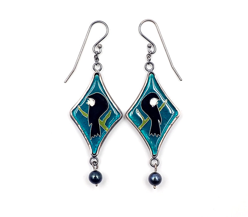 Emerald Green Tui Earrings