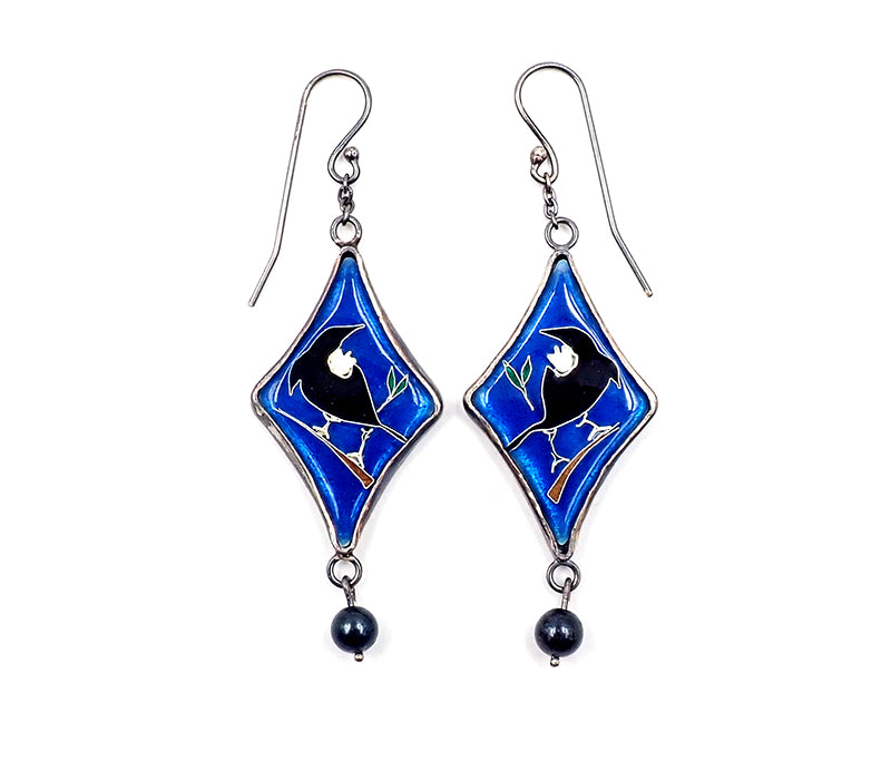 Dark Blue Tui Earrings